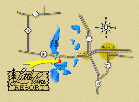 Directions to Little Pine Resort near Brainerd, Minnesota
